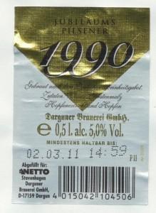 1990 Jubiläums Pilsener Premium