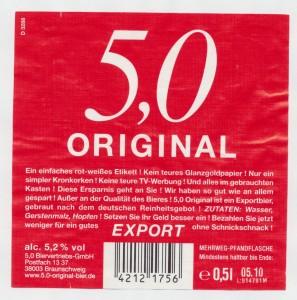 5,0 Original Export