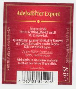 Adelsdorfer Export