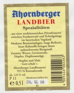 Ahornberger Landbier