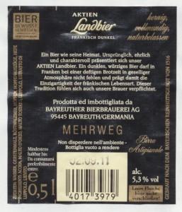 Aktien Landbier Fränkisch Dunkel