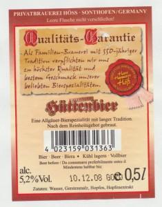 Allgäuer Hüttenbier