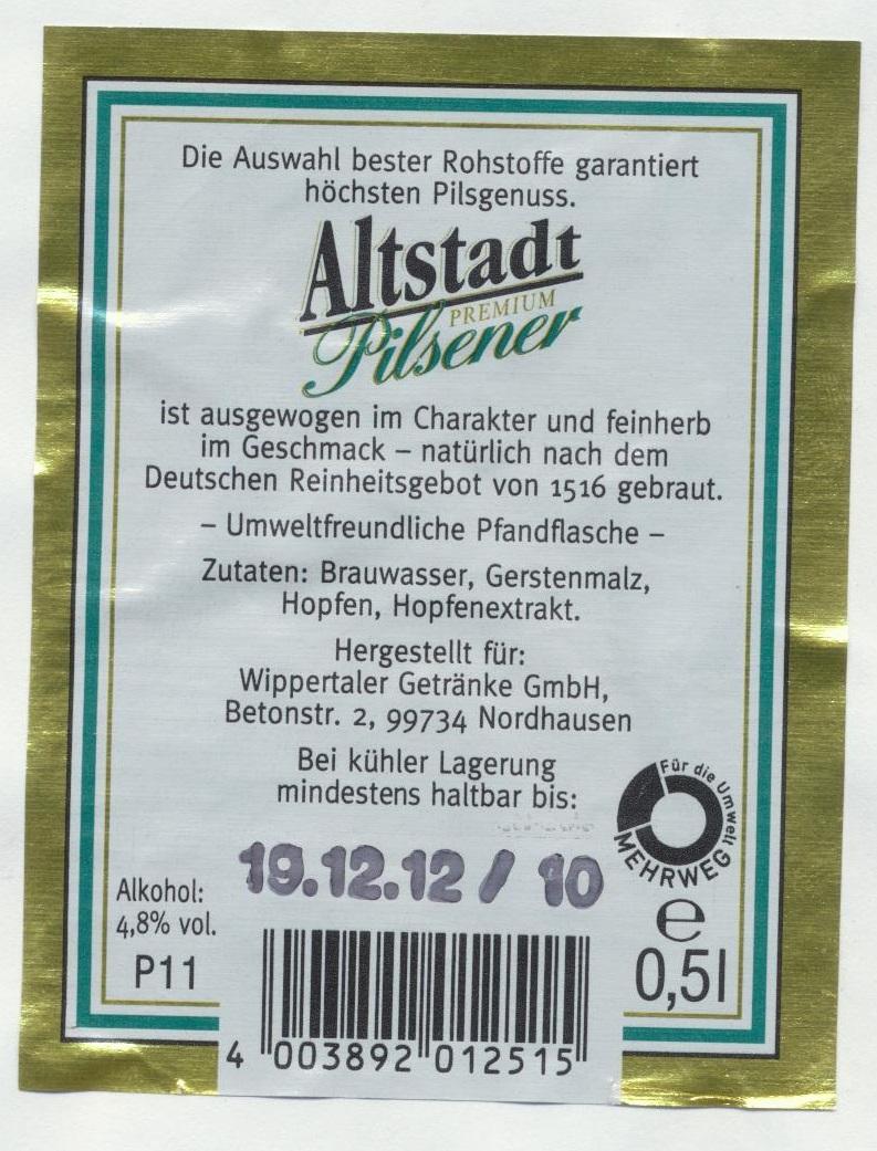 Altstadt Premium Pilsener | BLOG-B.INFO