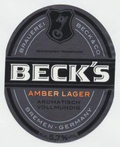 Becks Amber Lager