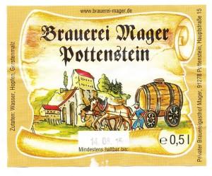 Brauerei Mager Pottensten Pils