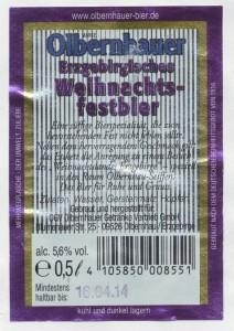 Olbernhauer Erzgebirgisches Weihnachtsbier