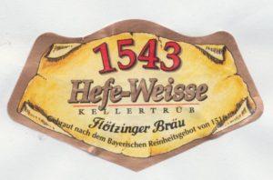 Flötzinger Bräu 1543 Hefe- Weisse