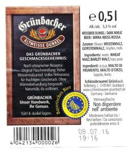 Grünbacher Altweisse Dunkel
