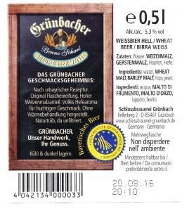 Grünbacher Braumeister Weisse