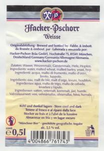 Hacker- Pschorr Weisse