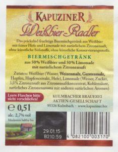 Kapuziner Weißbier- Radler
