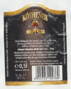Köthener J. S. Bach Premium Bier