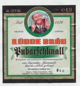 Lüdde Bräu Pubarschknall