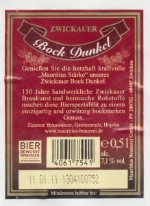 Zwickauer Mauritius Bock Dunkel