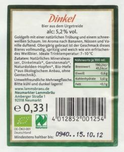 Neumarkter Lammsbräu Dinkel