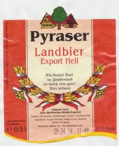 Pyraser Landbier Export Hell