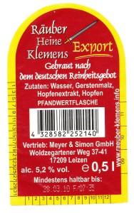 Räuber Heine Klemens Export