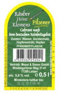 Räuber Heine Klemens Pilsener