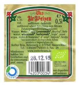 Rother Bräu Öko Ur- Weizen
