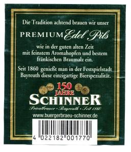 Schinner 1860 Premium Edel- Pils