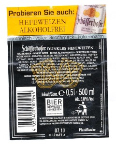 Schöfferhofer Dunkles Hefeweizen