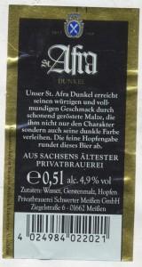 Schwerter Bräu St. Afra Dunkel