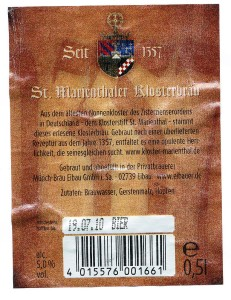 St Marienthaler Klosterbräu Dunkel