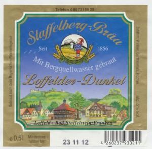 Staffelberg Bräu Loffelder Dunkel