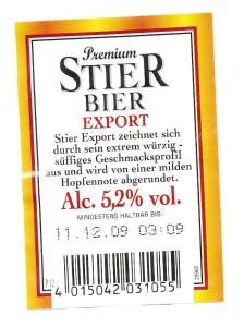 Stier Bier Export