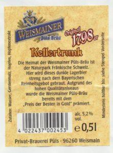 Weismainer 1798er Kellertrunk