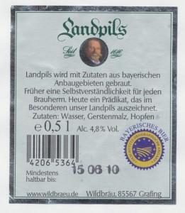 Wildbräu Landpils
