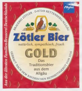 Zötler Bier Gold
